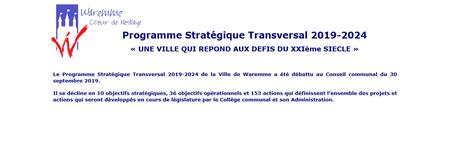 Programme Stratégique Transversal 2019-2024