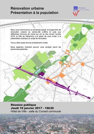 Rénovation urbaine - réunion publique - présentation à la population