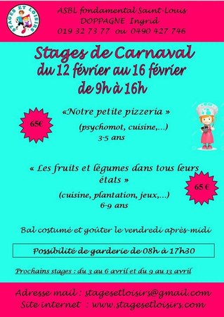 Stages de carnaval