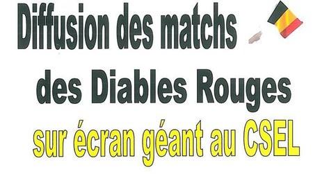 Diffusion du match des Diables Rouges - Ecran géant