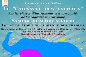 """""""Le Carnaval des animaux"""" par les classes d'instruments et d'arts parlés de l'Académie de Waremme"""